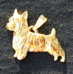Silky Terrier Dog 24k Gold Plated Pewter Pendant >>> Visit the image link more details. This is an Amazon Affiliate links.