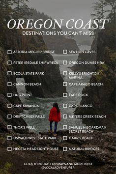 Oregon Coast Road Trip Destinations You Can't Miss // Local Adventurer #oregoncoast #roadtrip #oregon #destinations #pnw #pacificnorthwest #localadventurer