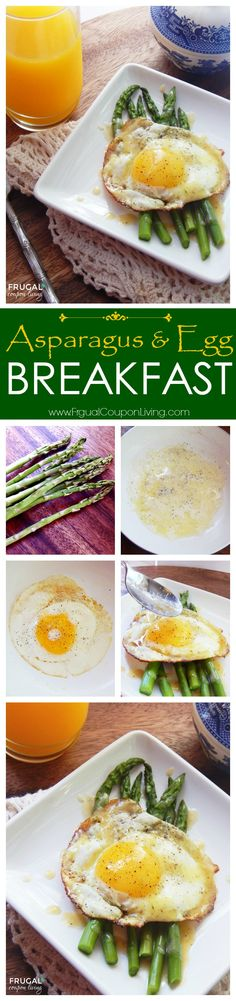 Healthy Breakfast Idea - Morning Egg & Asparagus Breakfast on Frugal Coupon Living. Nutritious Breakfast filled with the nutrition fiber, folate, vitamins A, C, E and K combined with the protein.