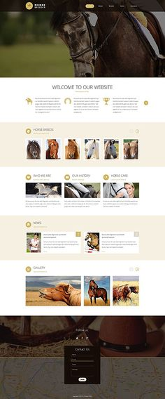 Horse Breeder Services #website #template. #themes #business #responsive