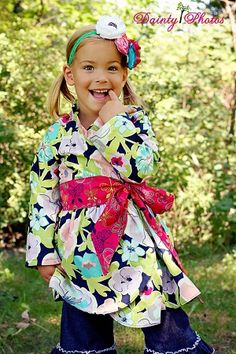 Willow's Wrap Jacket Pattern Size mo to 8 Girls Kids Patterns, Pdf Sewing Patterns, Clothing Patterns, Dress Patterns, Kids Clothing, Sewing Tutorials, Sewing Projects, Children's Boutique, Girls Boutique