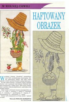 designs in counted cross stitch - crafts ideas - crafts for kids Folk Embroidery, Cross Stitch Embroidery, Sunbonnet Sue, Baby Cross Stitch Patterns, Sarah Kay, Holly Hobbie, Embroidery Techniques, Filet Crochet, Needlepoint