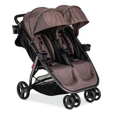 Combi Fold N Go Double Stroller in Caribou