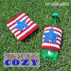 4th of July Cozy - free 4th of July crochet patterns