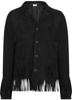 Saint Laurent Curtis fringed suede jacket on shopstyle.com
