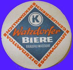 Watzdorfer Biere Bierdeckel