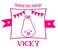 Geboortesticker type Vicky