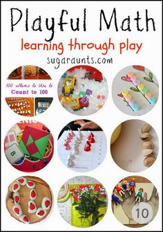 Creative ways to learn through play. Math concepts with sensory, nature, counting fun objects, and themes. Sugar Aunts.