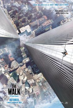 """Robert Zemeckis recreates New York's World Trade Center in """"The Walk"""". Joseph Gordon-Levitt stars as real life tight rope artist Philippe Petit's as he attempts to walk across the twin towers. Watch the trailer."""