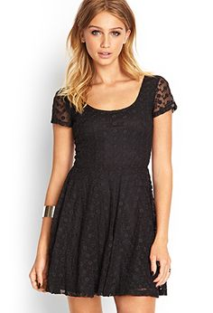 Embroidered Floral Skater Dress | Forever 21