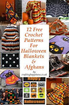 Crochet afghans 5840674504059820 - 12 Free Crochet Halloween Throws, Blankets & Afghans Patterns – Crafting Happiness Source by teacherme Crochet Afghans, Crochet Cushions, Crochet Pillow, Blanket Crochet, Crochet Granny, Crochet Crafts, Crochet Projects, Crochet Ideas, Diy Crafts
