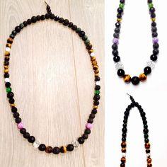 Gemstone Necklace - Crystal Necklace - Beaded Necklace - Mens Gemstone Necklace - Womens Gemstone Necklace - Yoga Necklace - Energy Necklace by OurUniverseShop on Etsy