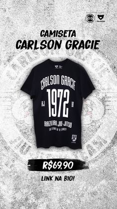 Camiseta  CarlsonGracie - Tauron  Fightwear  GracieJiuJitsu  JiuJitsu   Vestuário de941d922d5e5