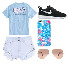 Summer by egloomis on Polyvore featuring polyvore, fashion, style, One Teaspoon, NIKE, Lilly Pulitzer, Ray-Ban and clothing
