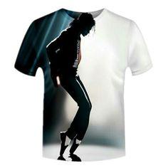 New 3D T-Shirt Michael Jackson Musique King Star unisexe manches courtes Tops Tee