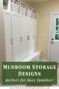 In this article we are going to give you 7 practical ideas to design an effective mudroom storage system. It will give you a chance to win the battle over clutter. Lets check them out here! Entryway Storage, Entryway Organization, Storage Shelves, Entryway Decor, Entryway Ideas, Locker Storage, Organized Entryway, Organized Garage, Mudroom Cubbies
