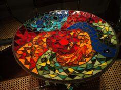 #Cuenco. Técnica vitro mosaico. Vidrios de color y venecitas opacas y transparentes