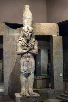 https://flic.kr/p/j6pgcg | Colossal sandstone statue of Rameses II | Nubia Museum at Aswan Colossal sandstone statue of Rameses II from the colonnade of the temple Gerf Hussein, built by the Viceroy Kushite Setau during the nineteenth dynasty.