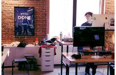 Standing desk. Sitting desk. Whatever works.
