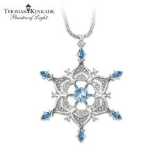 Thomas Kinkade Sterling Silver Sparkling Snowflake Pendant Necklace: Jewelry Gift For Her Jewelry Gifts, Jewelery, Jewelry Accessories, Jewelry Necklaces, Jewelry Design, Silver Jewellery, Silver Necklaces, Snowflake Jewelry, Accesorios Casual