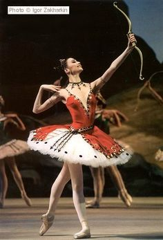 Svetlana Zakharova in La Fille du Pharaon, Bolshoi Ballet. Photo by Ignor Zakharkin,