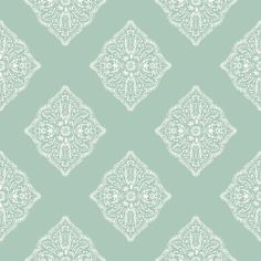 Henna Tile Wallpaper in Light Blue design by York Wallcoverings ($48) ❤ liked on Polyvore featuring home, home decor, wallpaper, wallpaper samples, harlequin wallpaper, light blue home decor, hand painted wallpaper, light blue wallpaper and diamond wallpaper