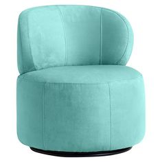 "26.75"" diameter, 30"" H, Seat 17.75"" H. Jellybean Swivel Chair | PBteen"