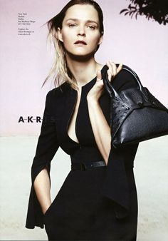 Carmen Kass for Akris SS 2014