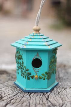 Hand Painted Birdhouses by lightleakscreations on Etsy, $30.00