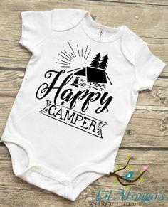 Happy Camper  Baby infant Bodysuit Baby Boys by LilMongosBoutique