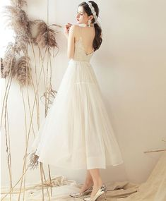 White sweetheart A line tulle tea length prom dress bridesmaid dress Event Dresses, Prom Dresses, Formal Dresses, Wedding Dresses, I Dress, Party Dress, White Bridesmaid Dresses, Tulle, Gowns