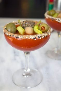 Manhattan Dirty Bloody Mary Martini recipe | We are not Martha