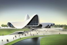 architecture futuriste par Zaha Hadid Architects - centre commercial futuriste aux formes brisées