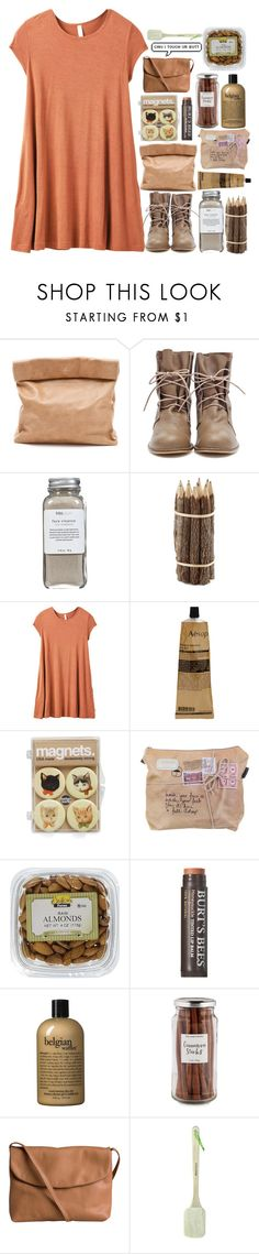"""Untitled #256"" by itzzbella ❤ liked on Polyvore featuring Marie Turnor, Très Pure, RVCA, Aesop, Burt's Bees, philosophy, Williams-Sonoma and Pieces"