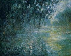Morning on the Seine in the Rain by Claude Monet. One more reason to love the genius