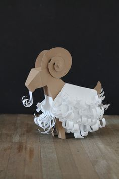 Year of the Sheep (goat?) origami printable