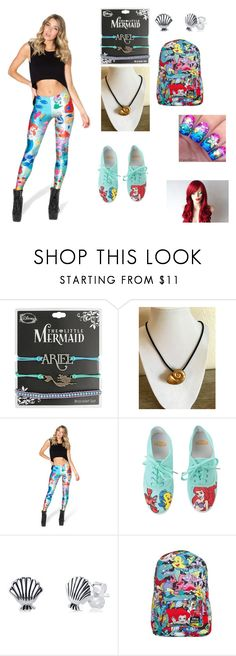 """""""Little mermaid outfit"""" by badangel21forever ❤ liked on Polyvore featuring Disney, WithChic and Hot Topic"""