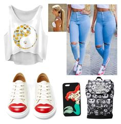 """Fashion outfit for teens"" by ingrid-saeterdalen on Polyvore featuring Charlotte Olympia and Forever 21"