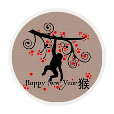 2016 Chinese New Year Monkey and Tree