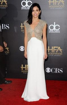 Jenna Dewan-Tatum attends the 18th Annual Hollywood Film Awards at The Palladium on November 14, 2014 in Hollywood, California.  What She Wore: Dress:Reem Acra  Shoes:Brian Atwood