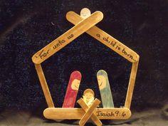 popsicle stick manger! adorbs