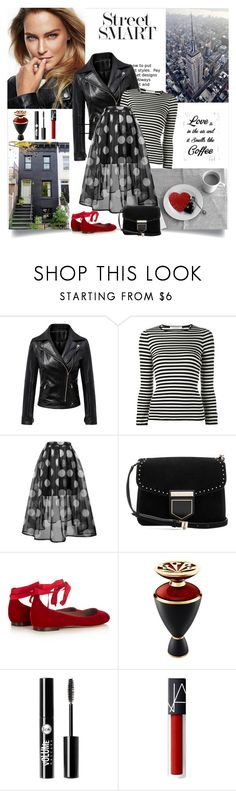"""""""Love is in the air and it smells like coffee"""" by danniss ❤ liked on Polyvore featuring WithChic, philosophy, Givenchy, Tabitha Simmons, Bulgari and Charlotte Russe"""