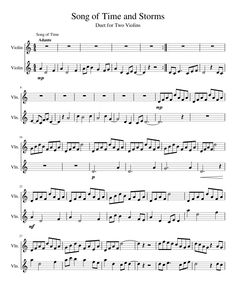 Sheet music made by Gothic Wolf for 2 parts: Violin
