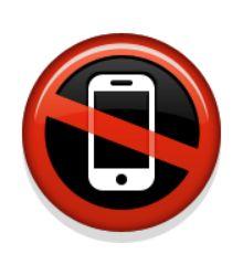 pas de téléphones mobiles