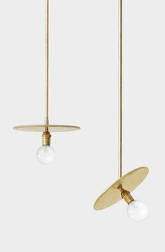 Our Workstead Brass Pendants looking so pretty together! | DSHOP