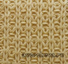 Knit stitch pattern Uneven no of sts. Row yo, s next st purlwise*, Row yo, s next s with the yo (the st is with 2 yo's)*, Row Row Mosaic Knitting, Knitting Stiches, Knitting Charts, Loom Knitting, Crochet Stitches, Hand Knitting, Knitting Patterns, Crochet Patterns, How To Purl Knit