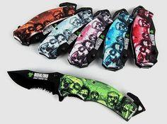 Walking Dead Zombie Knife with Artwork       >>>>> Buy it now   http://amzn.to/2c2Bbm1