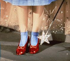 I've had an obsession with Dorothy's ruby slippers since I was a little girl... <3