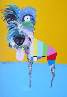 "Saatchi Art Artist Andy Shaw; Painting, ""Wolfie the Irish Wolfhound"" #art"