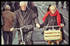 The holding-hands-with-your-partner-on-your-bicycle phenomenon...This is so much harder than it looks!
